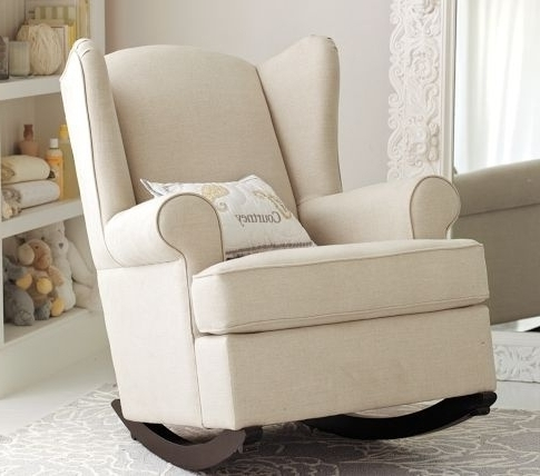 Recent Ba Nursery Decor Upholstered Sofa Rocking Chair Ba Nursery With For Rocking Sofa Chairs (View 6 of 10)