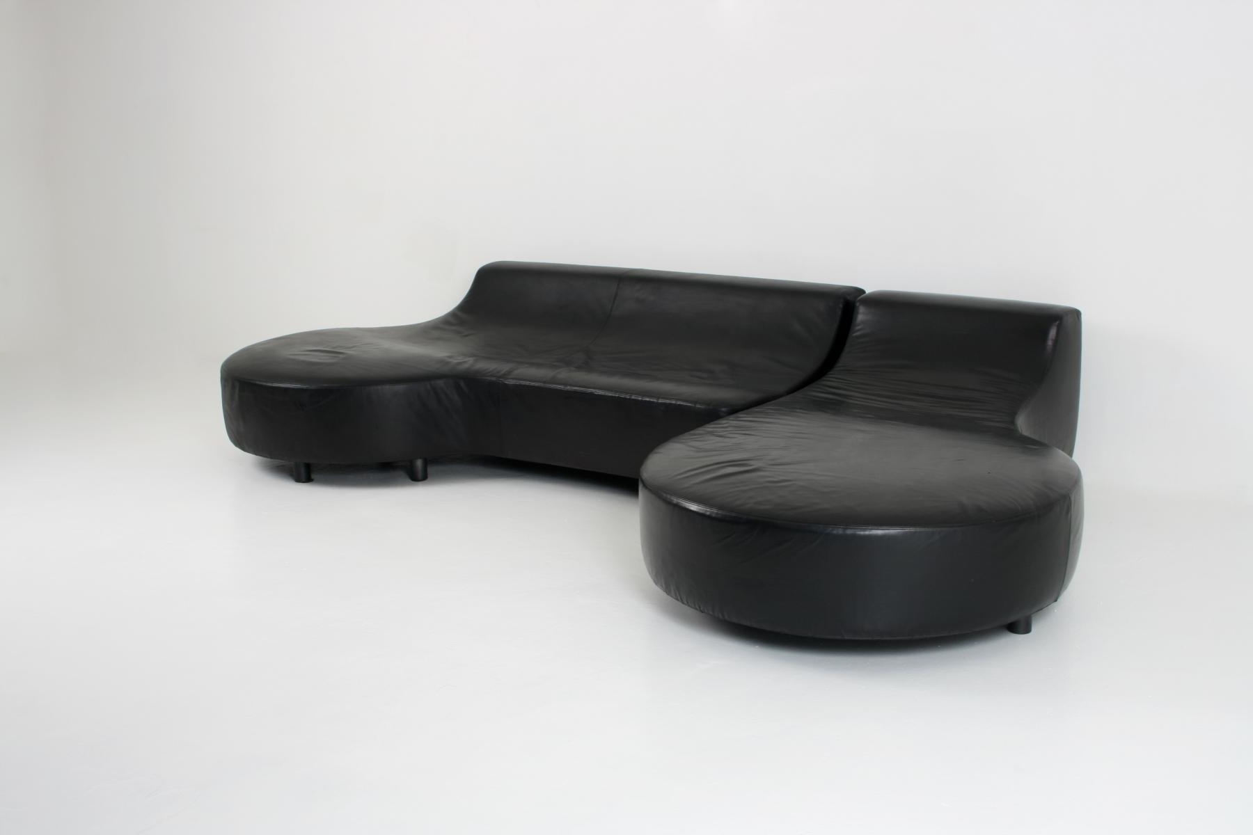Recent Black Leather Chaise Loungerodolfo Dordini For Minotti For Intended For Black Leather Chaise Lounges (View 11 of 15)