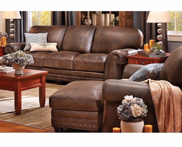 Recent Carson Full Grain Leather Sofa Group – Traditional – Denver – With Full Grain Leather Sofas (View 10 of 10)
