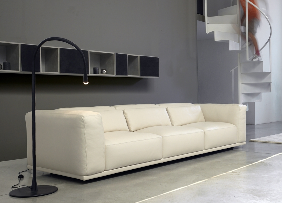 Recent Contemporary Leather Sofa Design — Awesome Homes : Style Of Throughout Long Modern Sofas (View 4 of 10)