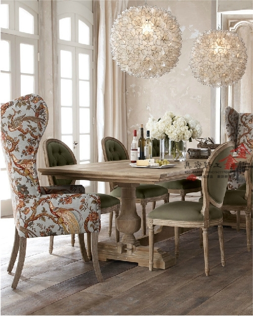 Recent Dining Sofa Chairs Inside Markor Dining Table Rustic Wood Dining Tables And Chairs Idyllic (View 9 of 10)