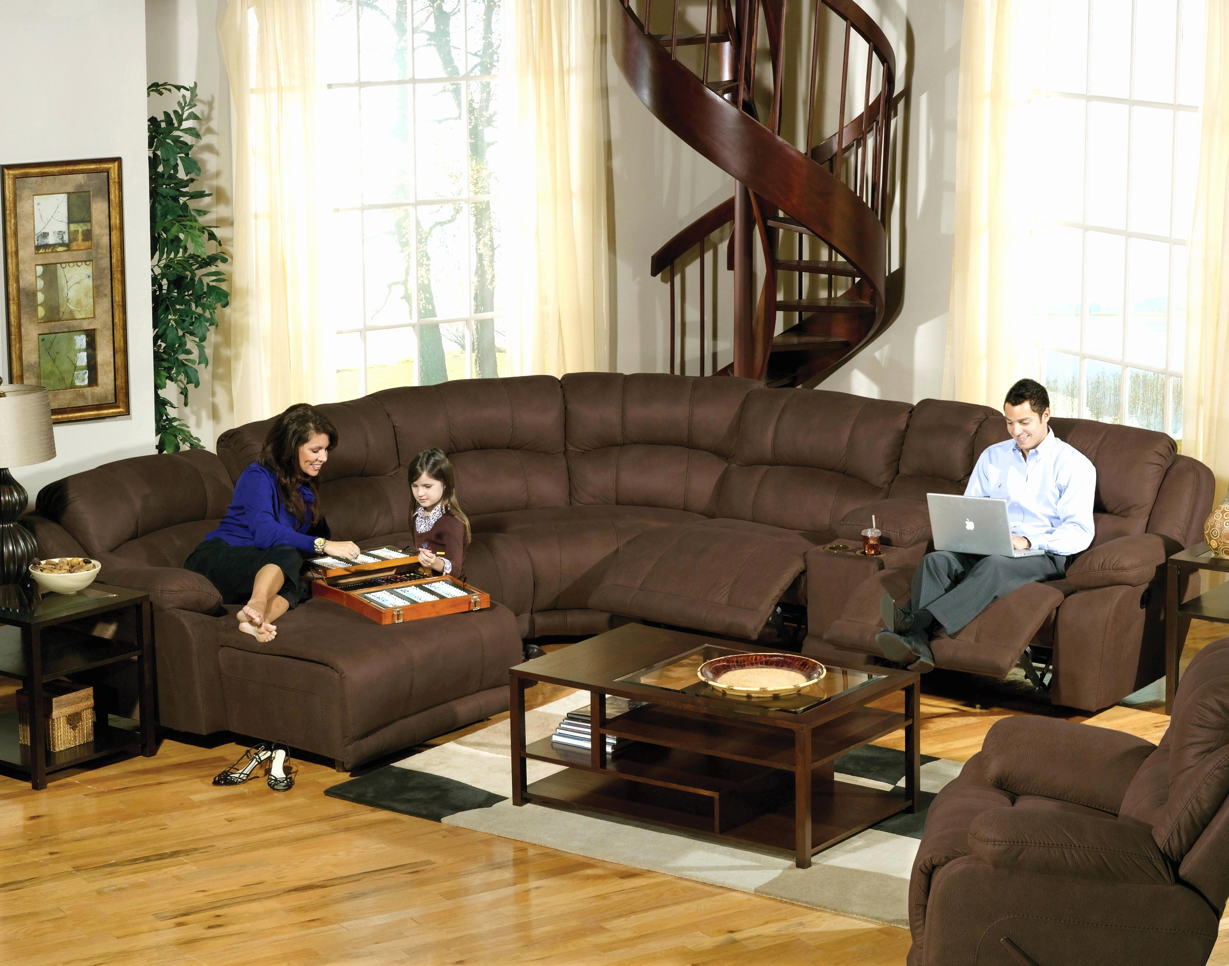 Recent Fresh Microfiber Reclining Sectional 2018 – Couches And Sofas Ideas Throughout Brown Sectionals With Chaise (View 5 of 15)