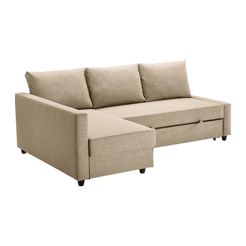 Recent Friheten Sleeper Sectional,3 Seat W/storage – Skiftebo Beige – Ikea Regarding Ikea Sectional Sleeper Sofas (View 5 of 10)