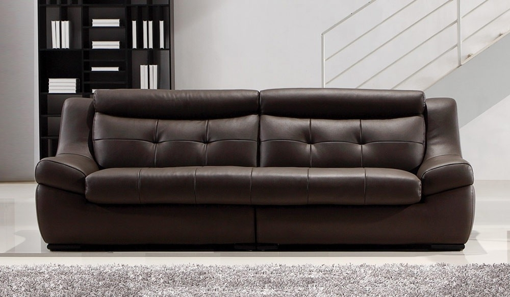 Recent Gallina Large Brown Leather Sofa – 4 Seater – Modern Settee Intended For Large 4 Seater Sofas (View 1 of 10)