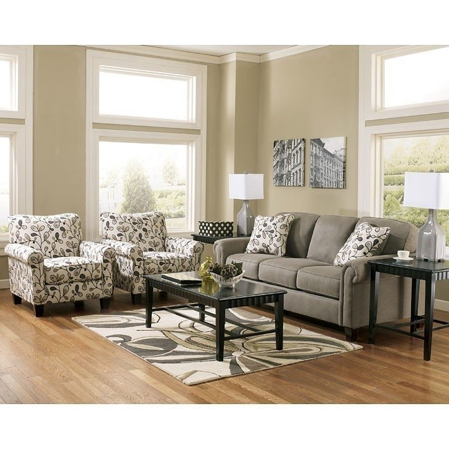 Recent Gusti Dusk Sofa Set W/ Accent Chairs Signature Designashley Within Sofa And Accent Chair Sets (View 8 of 10)