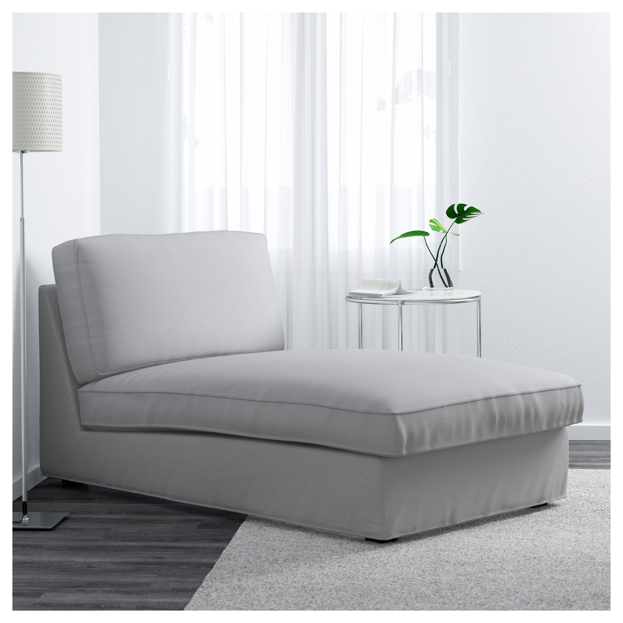 Recent Ikea Kivik Chaises Inside Kivik Chaise Longue Ramna Light Grey – Ikea (View 15 of 15)