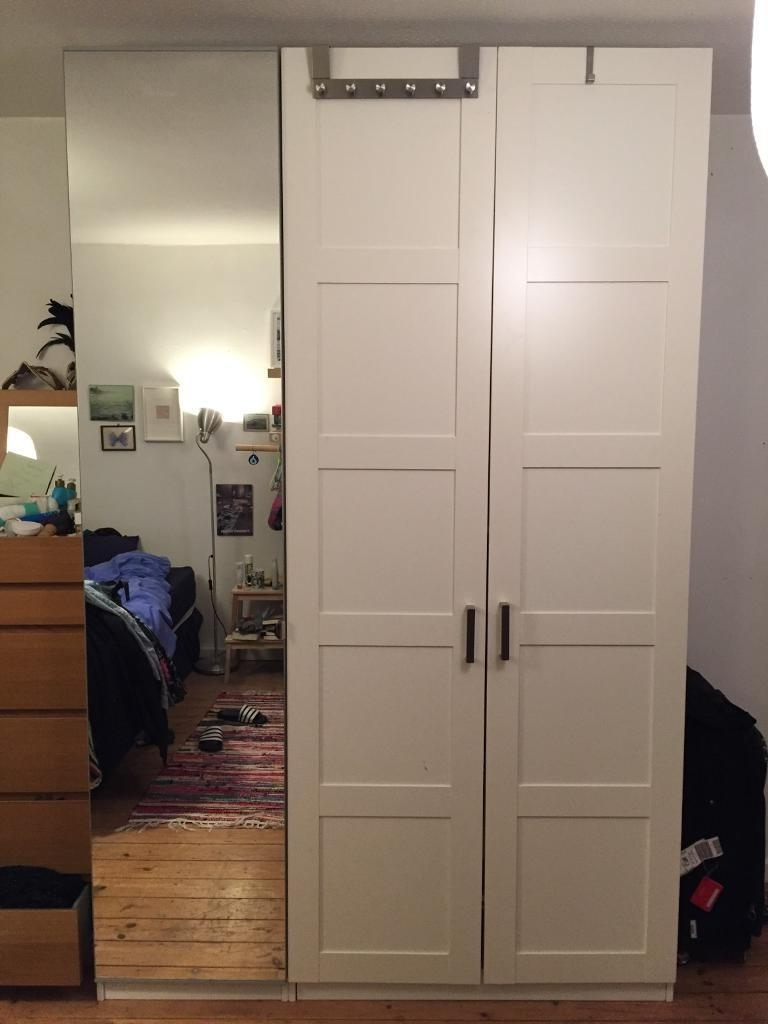 Recent Ikea Pax Wardrobes – One Double With White Doors, One Single With With Regard To Single White Wardrobes (View 6 of 15)