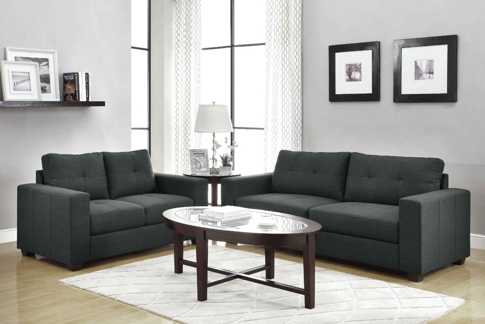 Recent Modern Fabric Sofa Set Andrew (View 8 of 10)