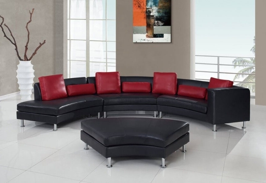 Recent Red Leather Sectionals With Ottoman Intended For 25 Contemporary Curved And Round Sectional Sofas (View 10 of 10)