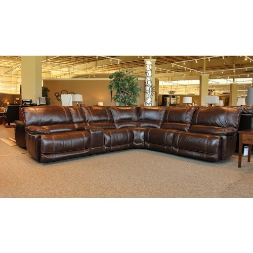 Recent Sectional Sofa Design: Wonderful Leather Sectional Sofa With 6 Regarding 6 Piece Leather Sectional Sofas (View 3 of 15)