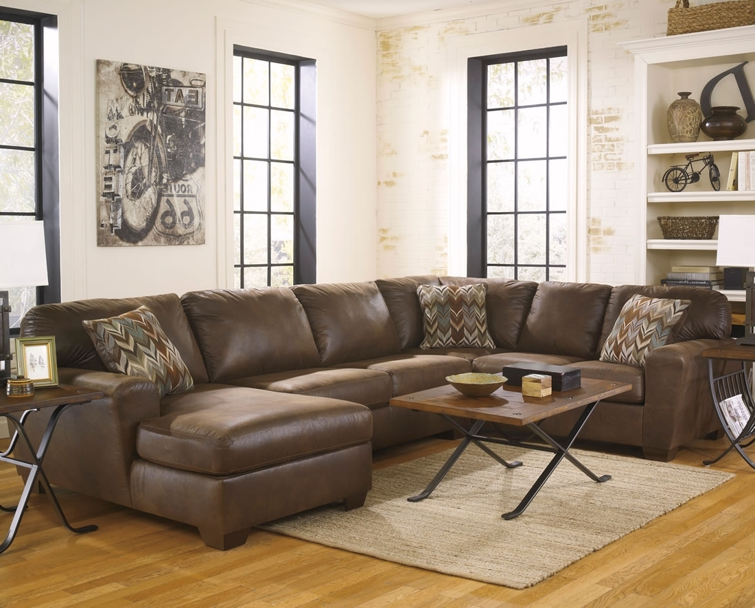 Recent Sectional Sofas With Recliners And Cup Holders Small Corner Within Brown Leather Sectionals With Chaise (View 11 of 15)