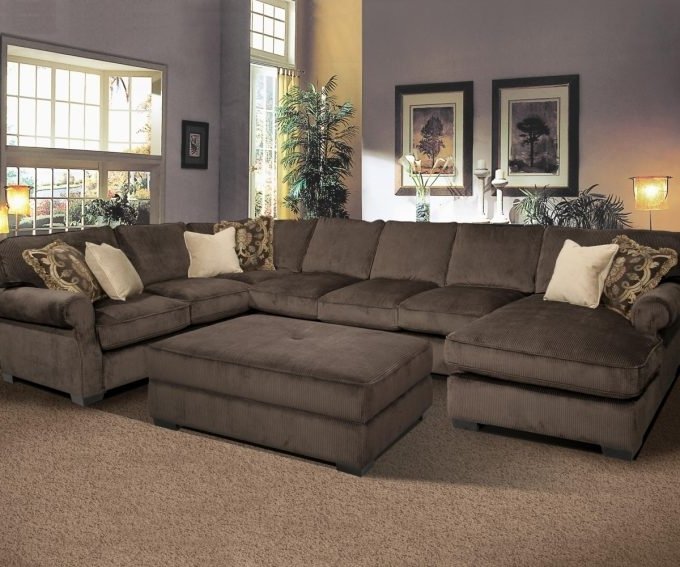 Recent Sectionals With Oversized Ottoman Inside Home Decor: Pleasing Sectional With Oversized Ottoman Inspiration (View 3 of 10)