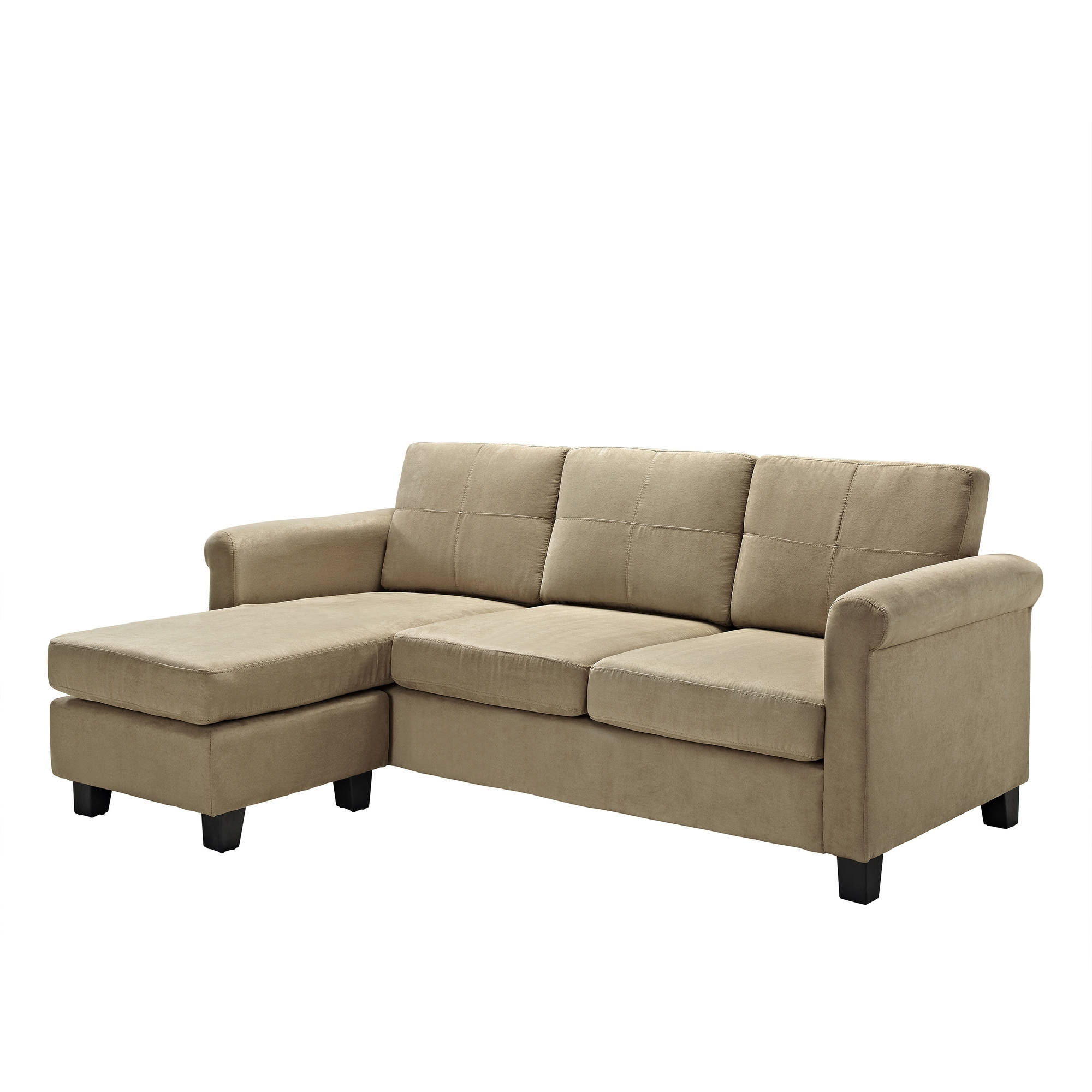 Recent Small Chaise Sofas Within Dorel Living Small Spaces Configurable Sectional Sofa, Multiple (View 7 of 15)