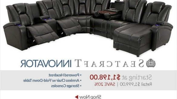 Recent Theatre Sectional Sofas Intended For Cool Home Theater Sectional Sofa Best Design 2018 2019 Sofamoe (View 9 of 10)