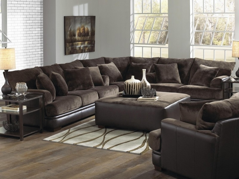 Recent U Shaped Leather Sectional Sofas Throughout U Shaped Sectional Sofa With Chaise Fabric All About House Design (View 8 of 10)