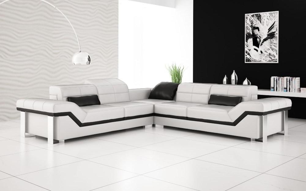 Recent White Leather Corner Sofas Throughout Olympian Sofas Rimini White Leather Sofa (View 7 of 10)