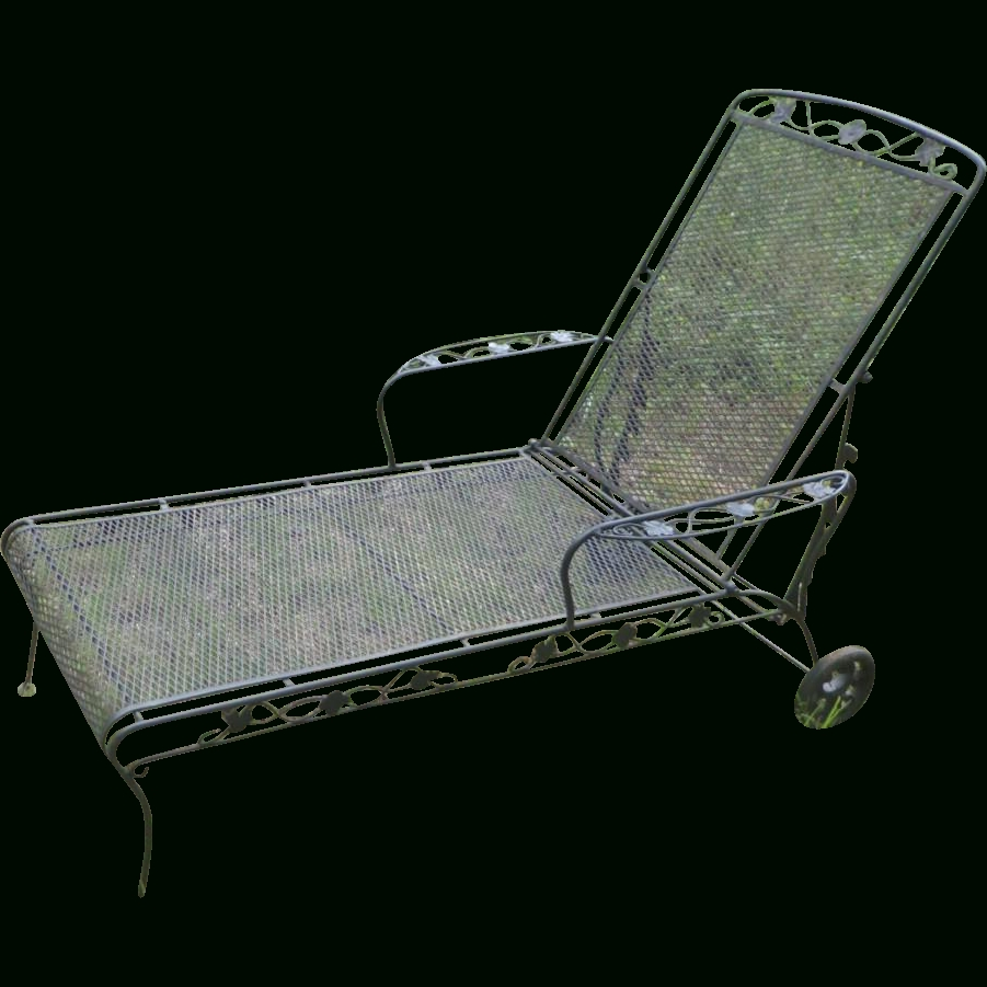 Recent Wrought Iron Chaise Lounge – Jefferson Wrought Iron Chaise Lounge Regarding Wrought Iron Chaise Lounges (View 6 of 15)