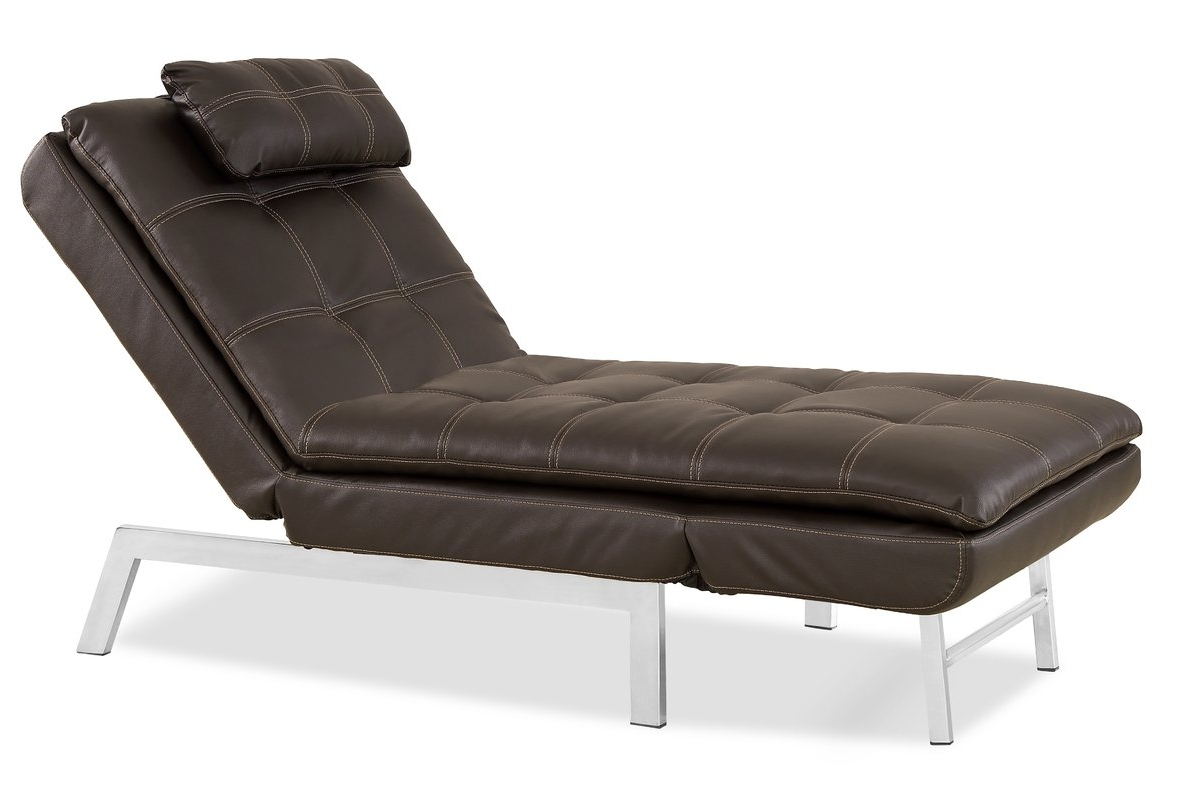 Reclining Chaise Lounges For Well Known Serta Futons Vienna Convertible Chaise Lounge & Reviews (View 11 of 15)