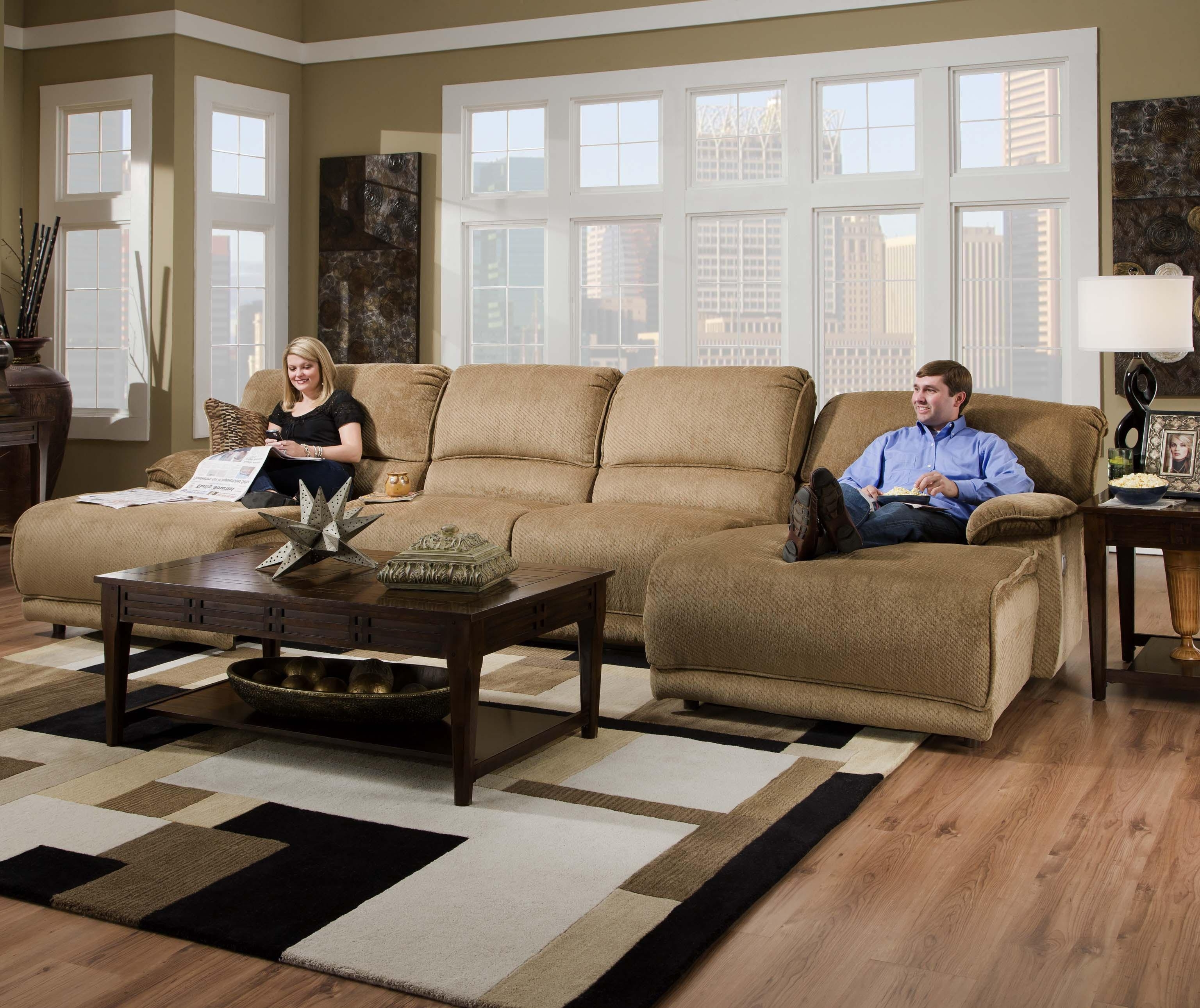 Reclining Sectional Sofas For Small Spaces Cheap Living Room Sets Within Widely Used Sectionals With Chaise And Recliner (View 12 of 15)