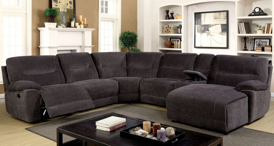 Reclining U Shaped Sectionals Pertaining To Most Recent Couch With Chaise And Recliner Leather Sofa Set Fabric Sectional (View 6 of 10)