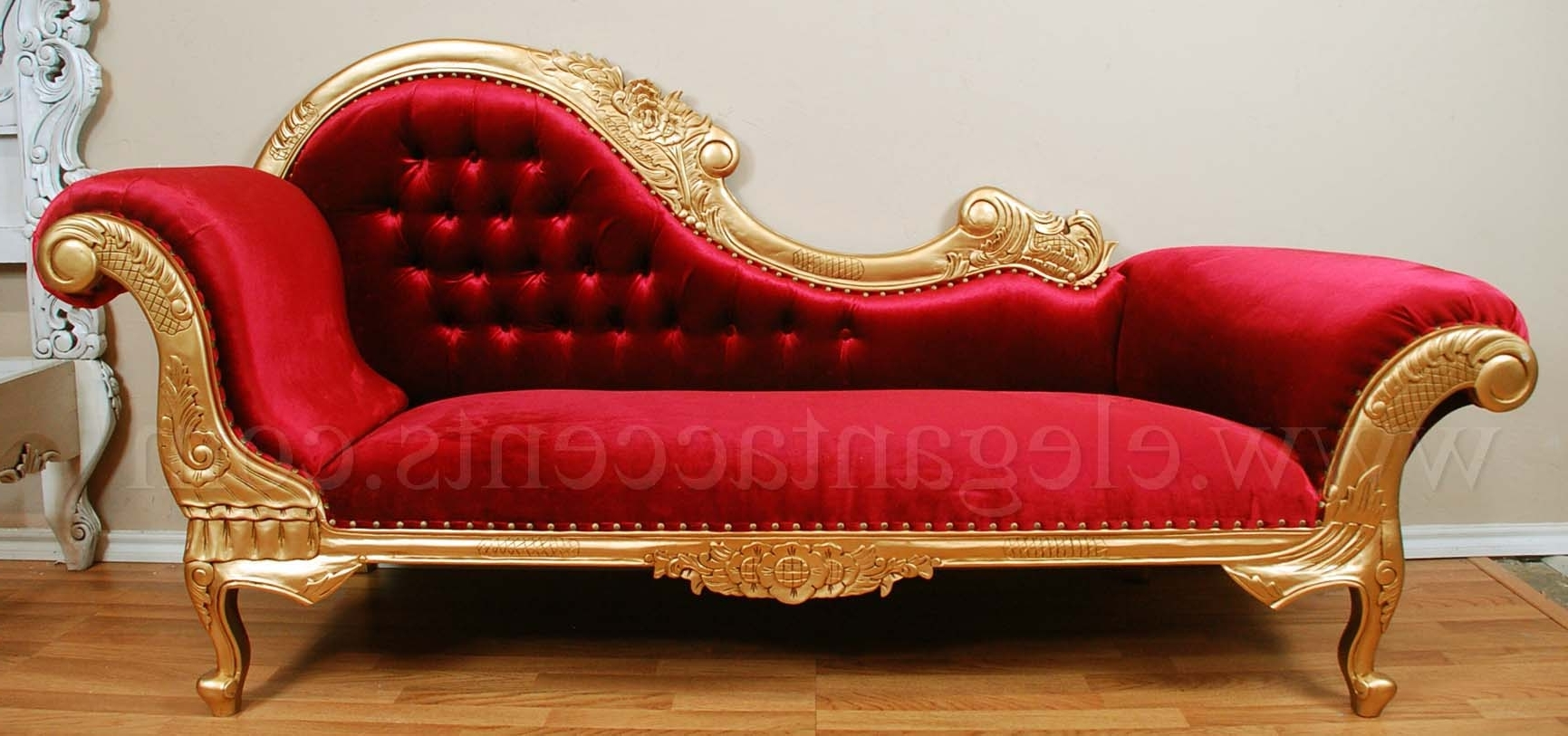 Red Chaises For Preferred Depositphotos Stock Photo Red Chaise Lounge Over White – Surripui (View 9 of 15)