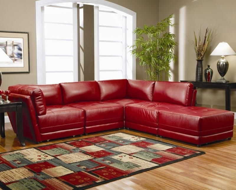 Red Leather Couch (that Way The Kids Can't Stain It Too Bad Pertaining To Current Red Leather Couches For Living Room (View 2 of 10)