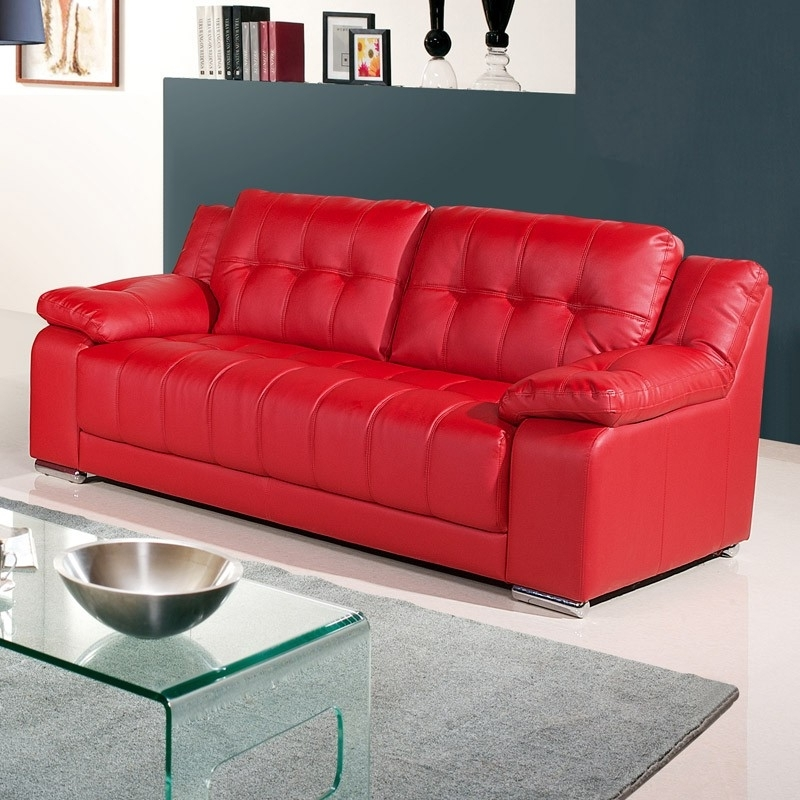 Red Leather Couches With Regard To Recent Why You Should Get A Red Leather Sofa – Elites Home Decor (View 8 of 10)