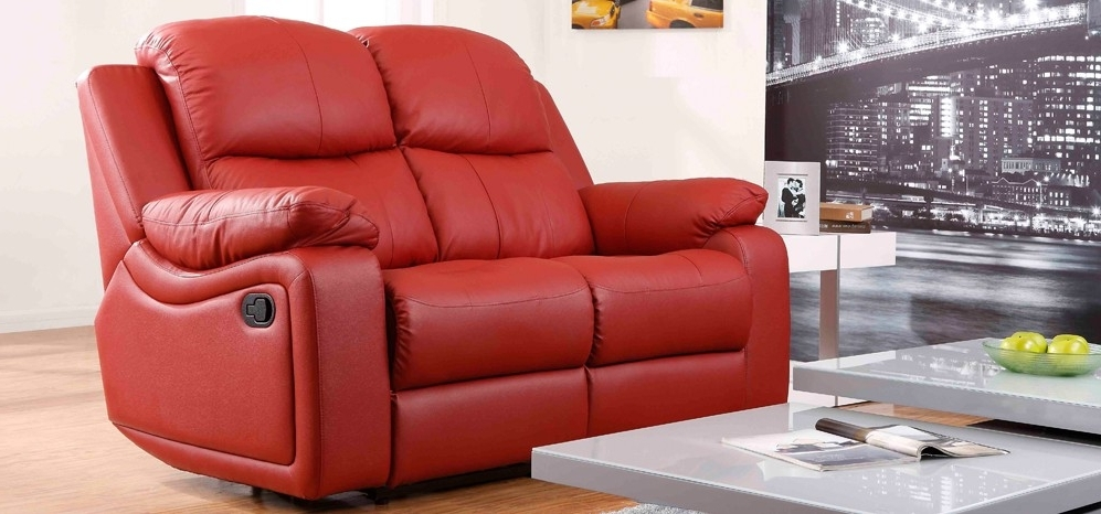 Red Leather Reclining Sofa – Visionexchange (View 3 of 10)