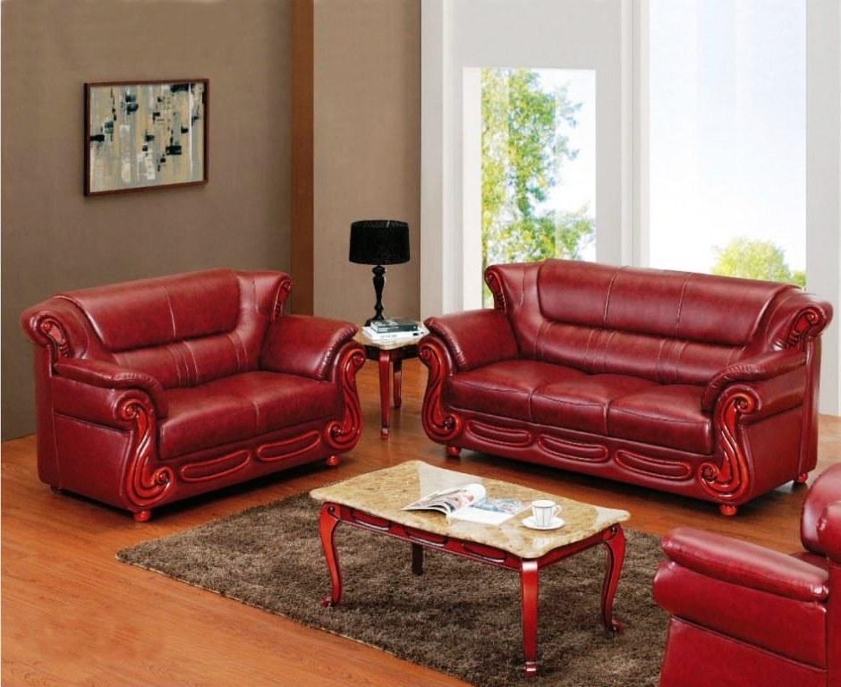 Red Leather Reclining Sofas And Loveseats Intended For Widely Used Valencia Red Leather Sofa And Loveseat House Decorations And (View 2 of 10)