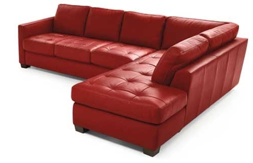 Red Leather Sectional Couches Throughout Popular Sectional Sofa Design: Good Looking Red Leather Sectional Sofa Red (View 10 of 10)