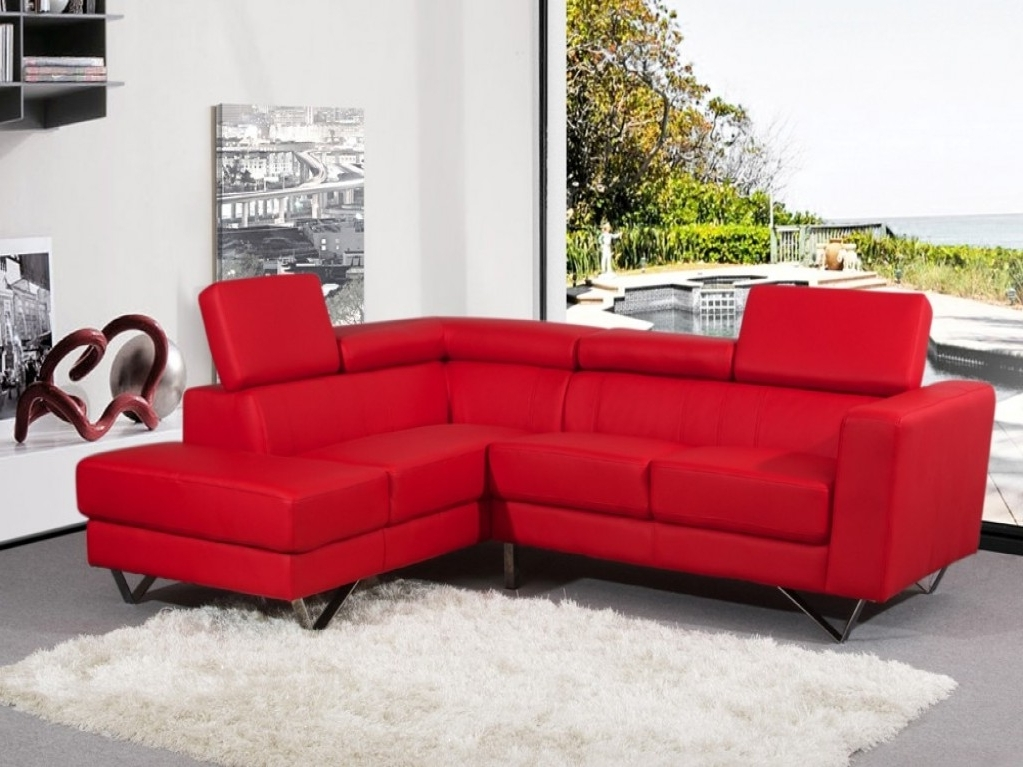 Red Leather Sectionals With Chaise Within Famous Red Sectional Sofa Be Equipped Red Leather Sectional With Chaise (View 10 of 10)