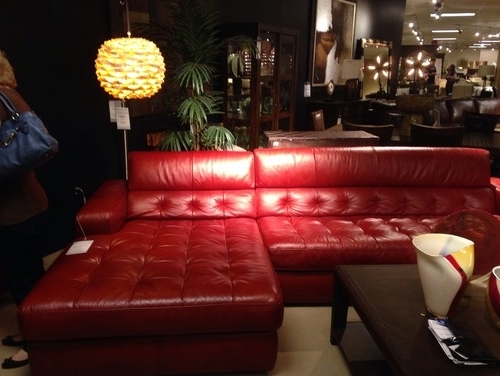 Red Leather Sectionals With Ottoman In Most Up To Date Help Me Decorate Around Red Leather Sectional (Gallery 5 of 10)
