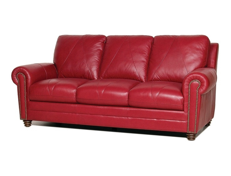 Red Leather Sofas For Most Popular Fancy Red Leather Couches 40 About Remodel Sofas And Couches Ideas (View 8 of 10)