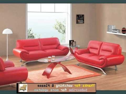 Red Leather Sofas With Fashionable Sofa Designs And Collection (View 9 of 10)