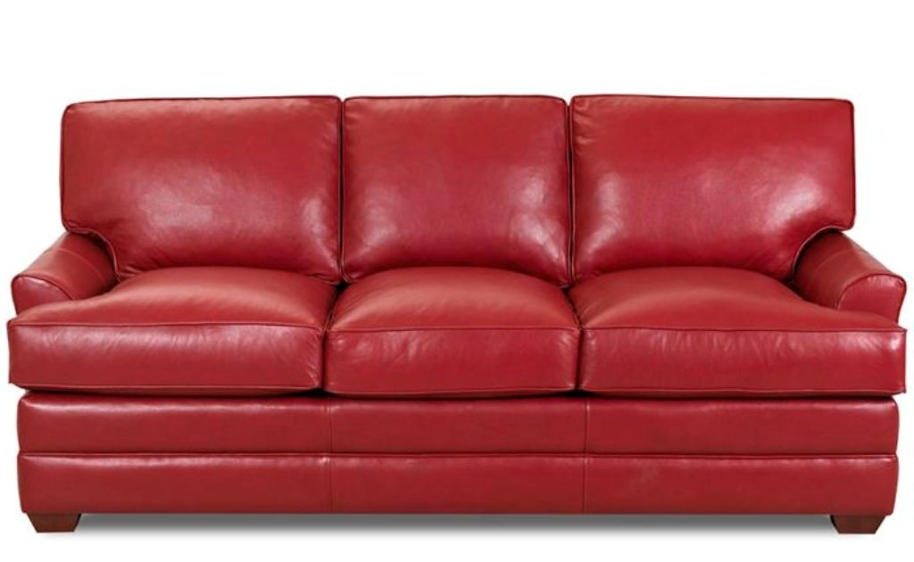 Red Sleeper Sofas Pertaining To Fashionable Chic Full Size Leather Sleeper Sofa Red Leather Sofa Sleeper Full (View 9 of 10)