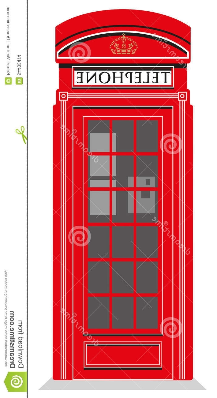 Red Telephone Box Stock Vector (View 8 of 15)