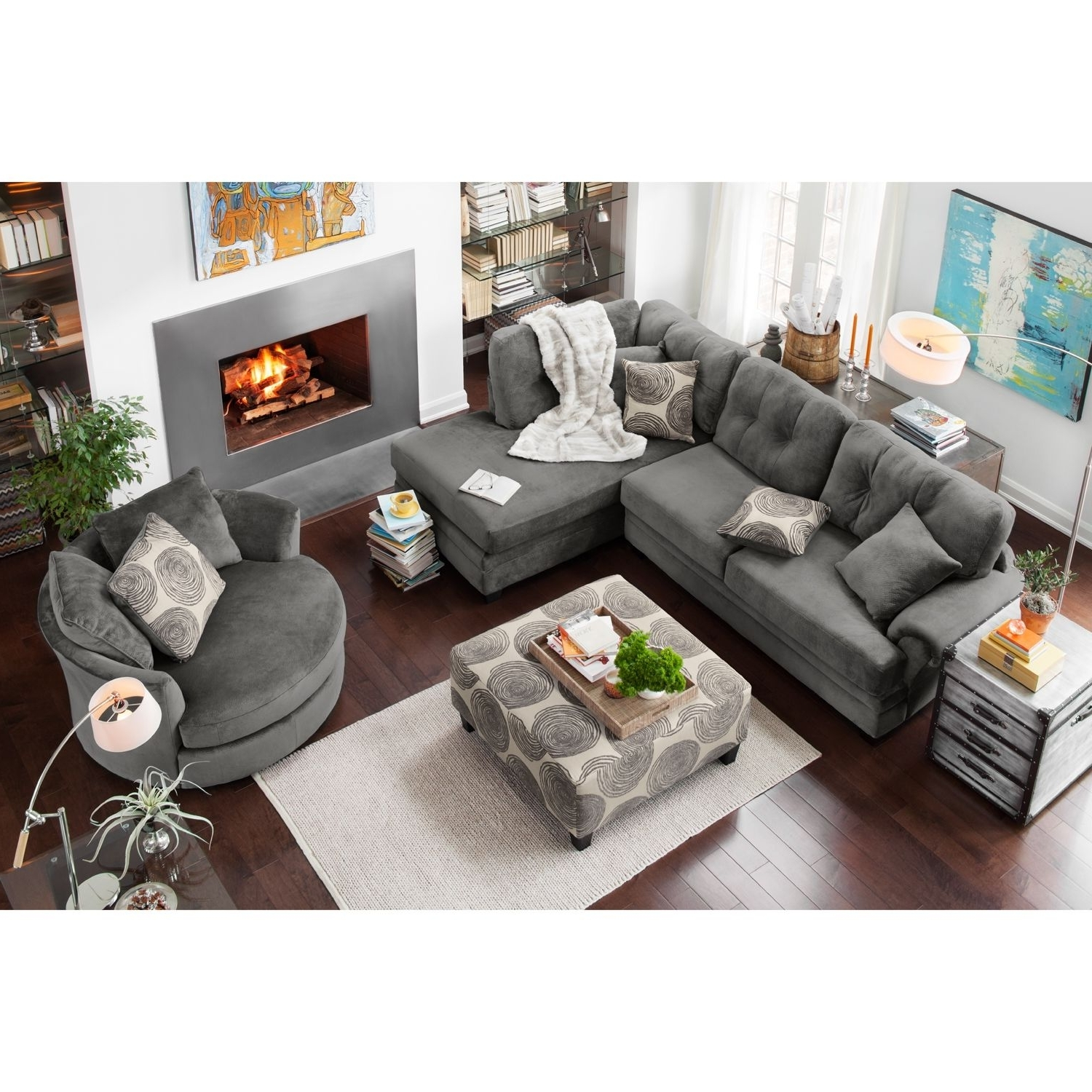 Right Facing Chaise Sectionals With Latest Cordelle 2 Piece Right Facing Chaise Sectional – Gray (View 13 of 15)