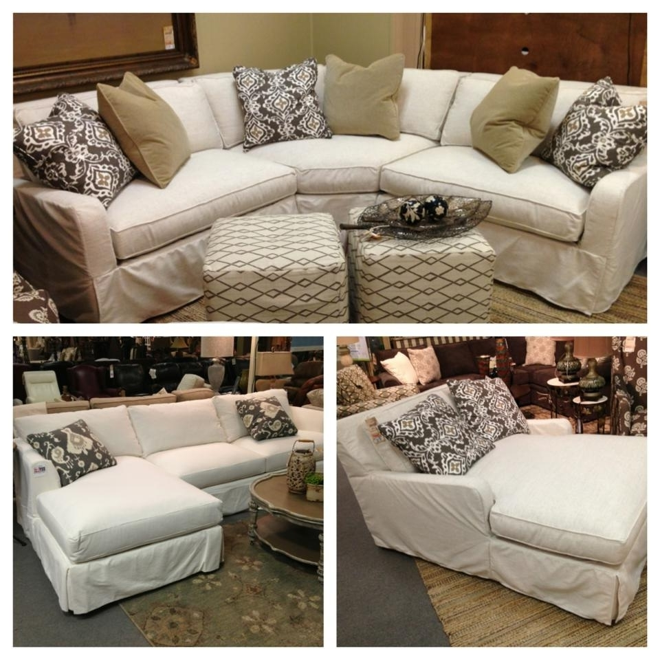 Robin Bruce Havens Slipcover Sofa Now Available As Sectional, Sofa With Popular Slipcovered Sofas With Chaise (View 4 of 15)