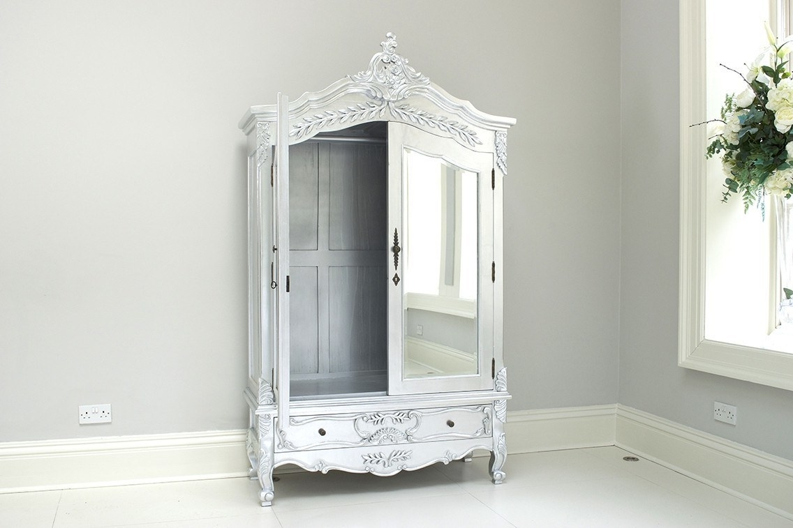Rococo Wardrobes Pertaining To Well Known French Style Beds And Furniture Children's Wardrobes White (View 8 of 15)
