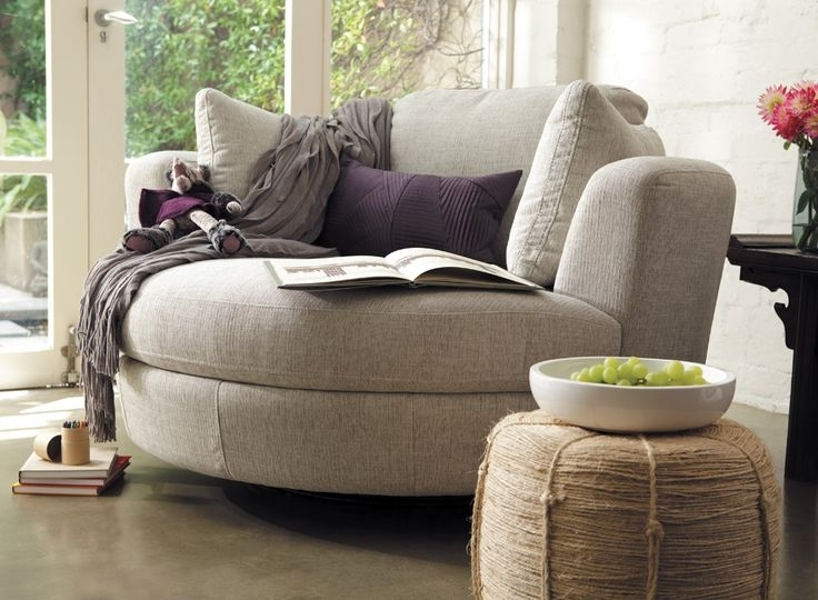 Round Swivel Sofa Chair (View 1 of 10)