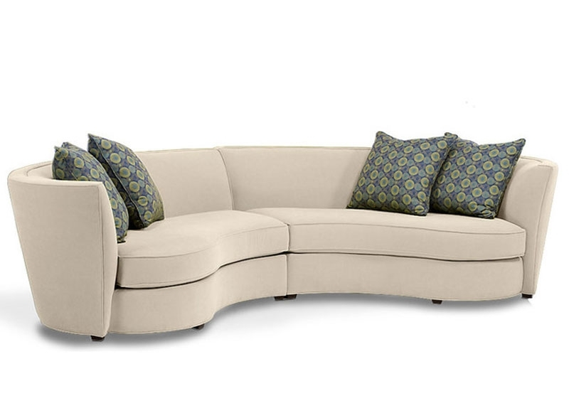 Rounded Sofas Within Famous Curved Sectional Sofa – Tjihome (View 8 of 10)