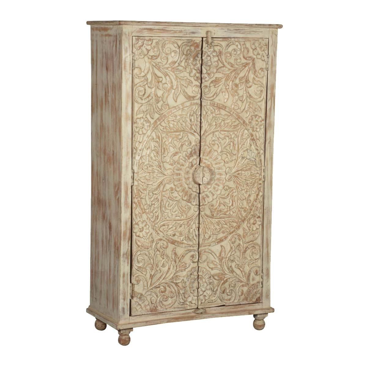 Rustic Armoire And Wardrobe Furniture Inside Most Popular Wood Wardrobes (View 14 of 15)