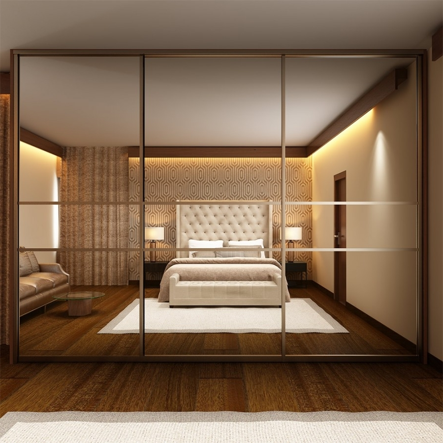 Savile Mirrored Sliding Wardrobe Abequare Furnish Pvt Ltd Throughout Famous Mirror Wardrobes (View 10 of 15)