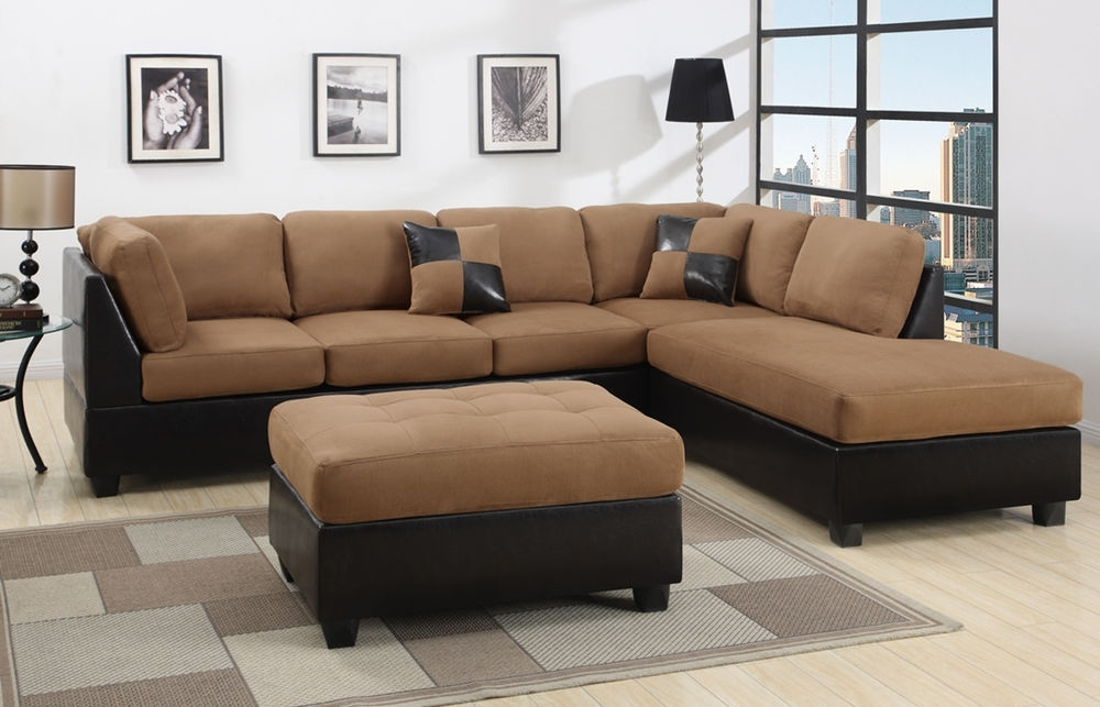 Sectional Sectionals Sofa Couch Loveseat Couches With Free Ottoman Within Well Liked Sectional Sofas (View 2 of 10)