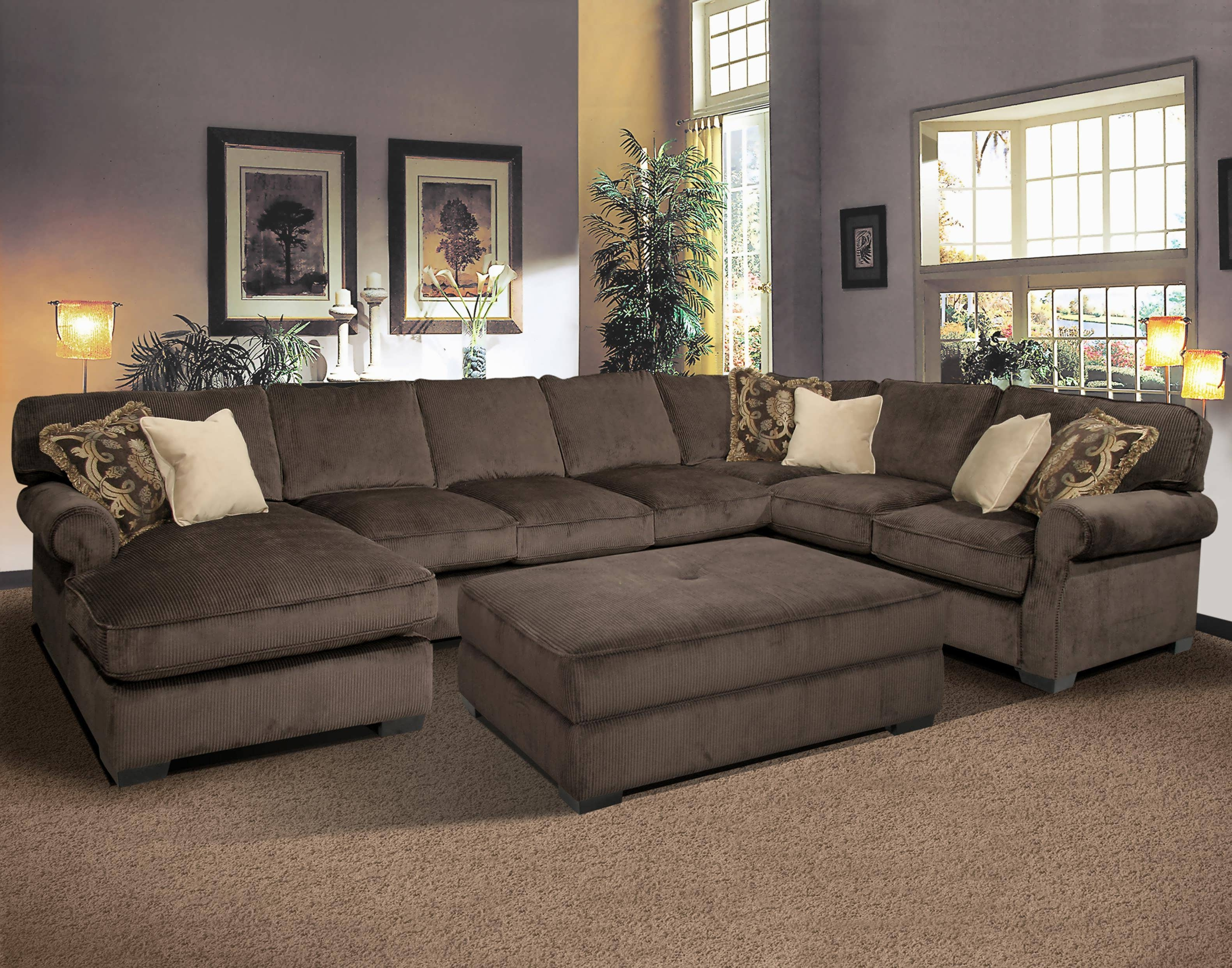 Sectional Sleeper Sofas With Chaise With 2017 Sofa : Leather Reclining Sectional 4 Piece Sectional Sofa (View 12 of 15)
