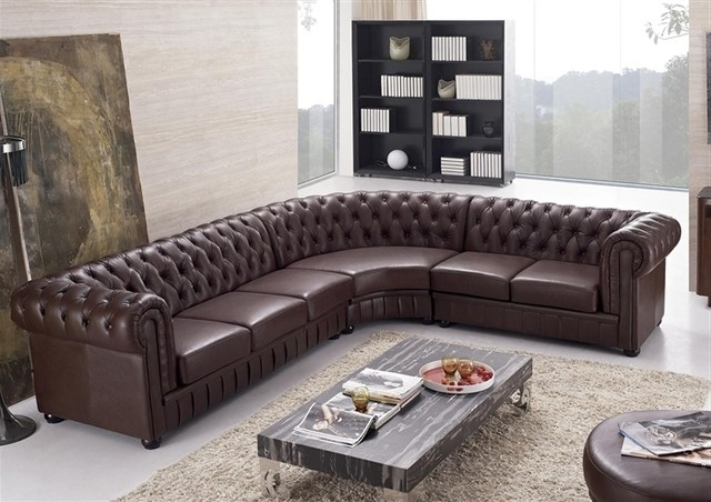 Sectional Sofa Design: Adorable Tufted Leather Sectional Sofa Intended For 2018 Tufted Sectional Sofas (View 9 of 10)