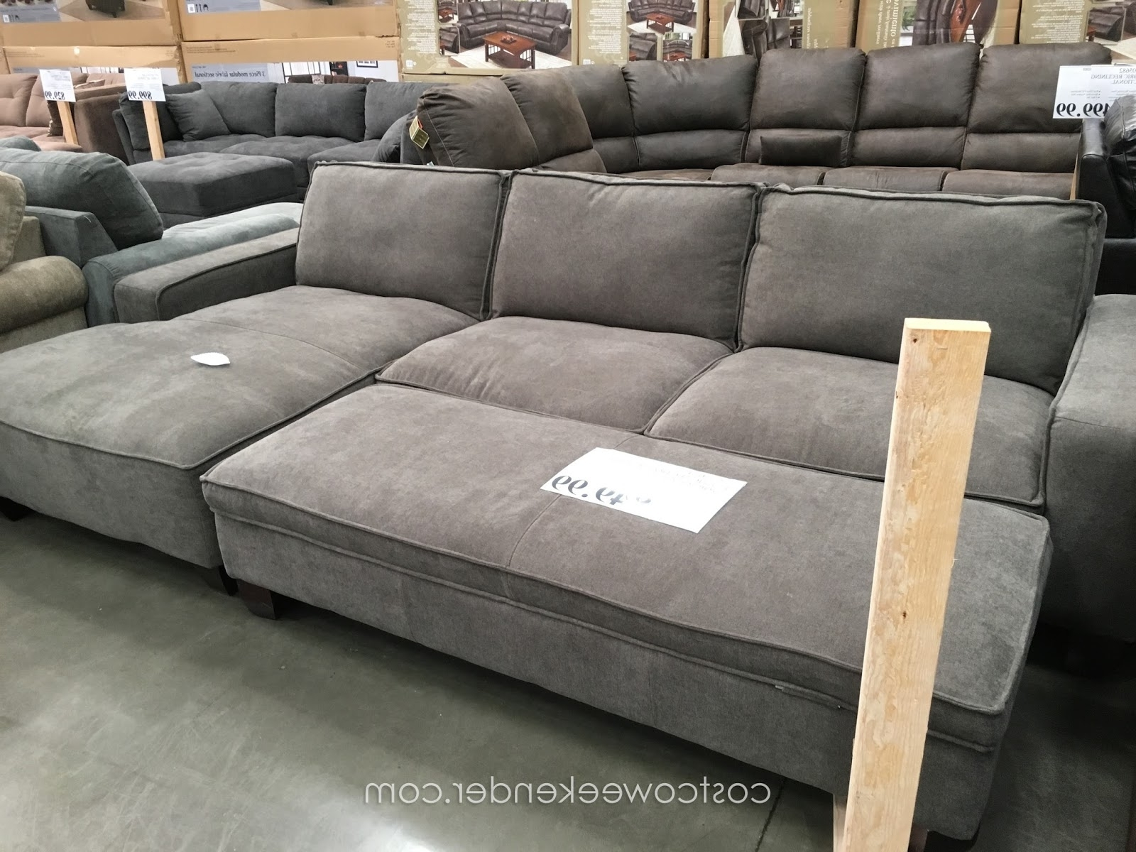 Sectional Sofa Design: Lovely Sectional Sofas Costco Leather Throughout Well Known Grey Chaise Sectionals (View 13 of 15)