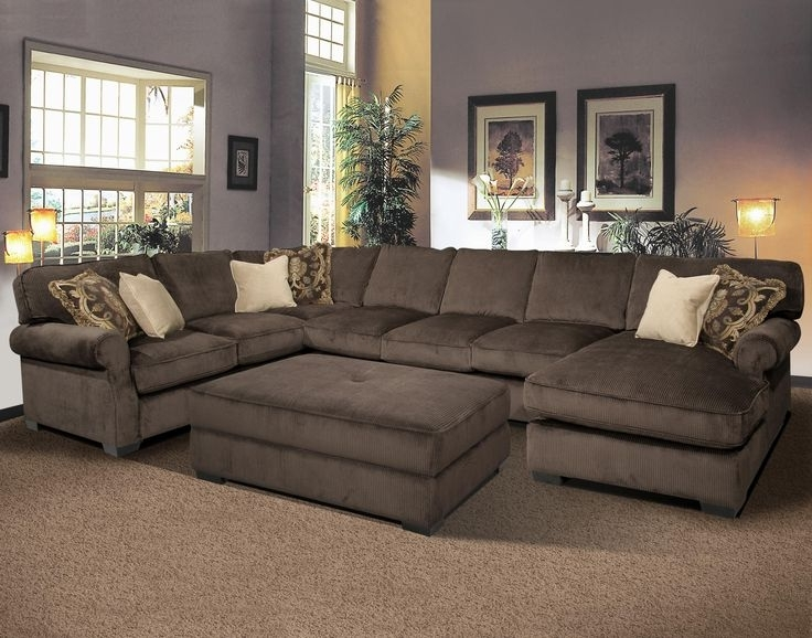 Sectional Sofa Design: Oversized Sectional Sofas Recliners Sale In Best And Newest Sectionals With Chaise And Ottoman (View 5 of 10)