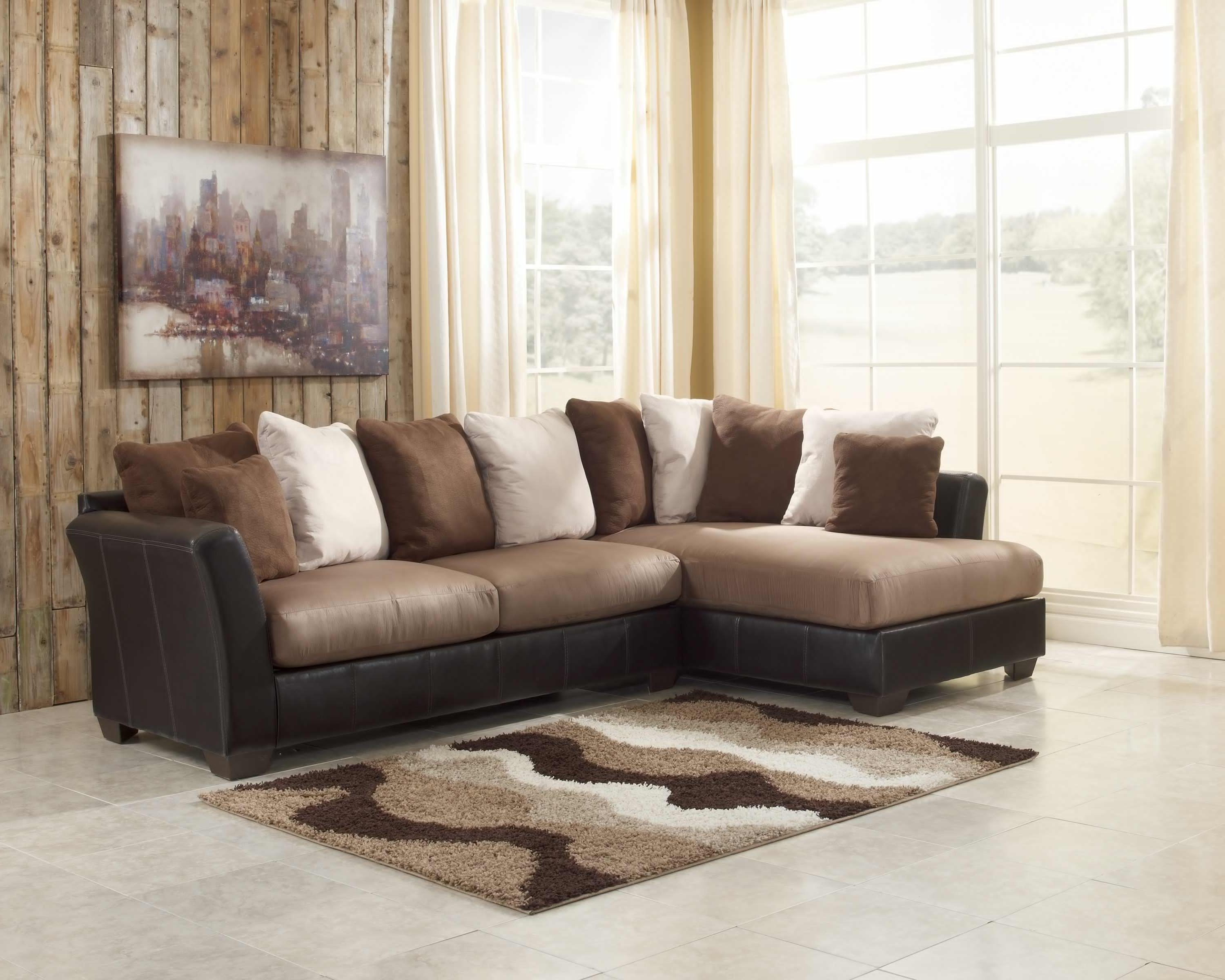 Sectional Sofa Design: Two Piece Sectional Sofa Chaise Leather With Regard To Most Recently Released 2 Piece Sectionals With Chaise (View 15 of 15)