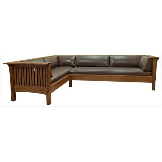 Sectional Sofas Design Wood Living Room Furniture For Trendy Craftsman Sectional Sofas (View 7 of 10)